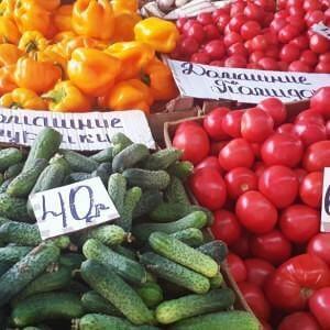 овощи на рынке в Судаке