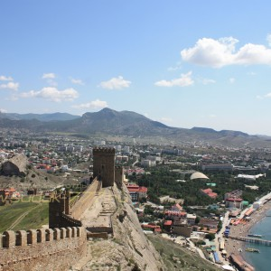 город Судак, вид с генуэзской крепости