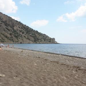 пляж в Веселом